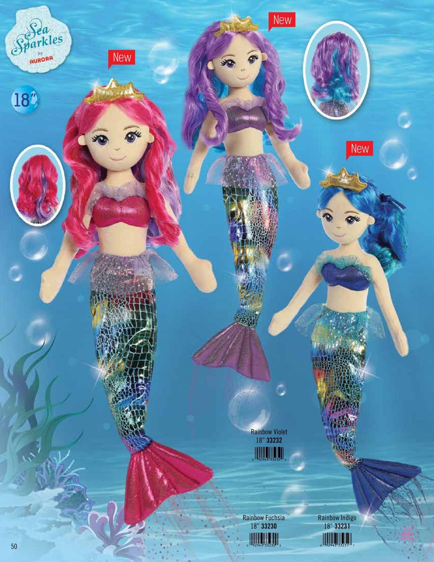 Aurora World Sea Sparkles Serena Mermaid 10 Plush Aurora World Inc 33044