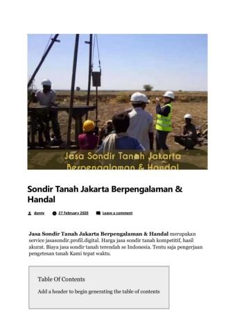Sondir Tanah Jakarta Berpengalaman Handal Flip Book Pages 1 9 Pubhtml5