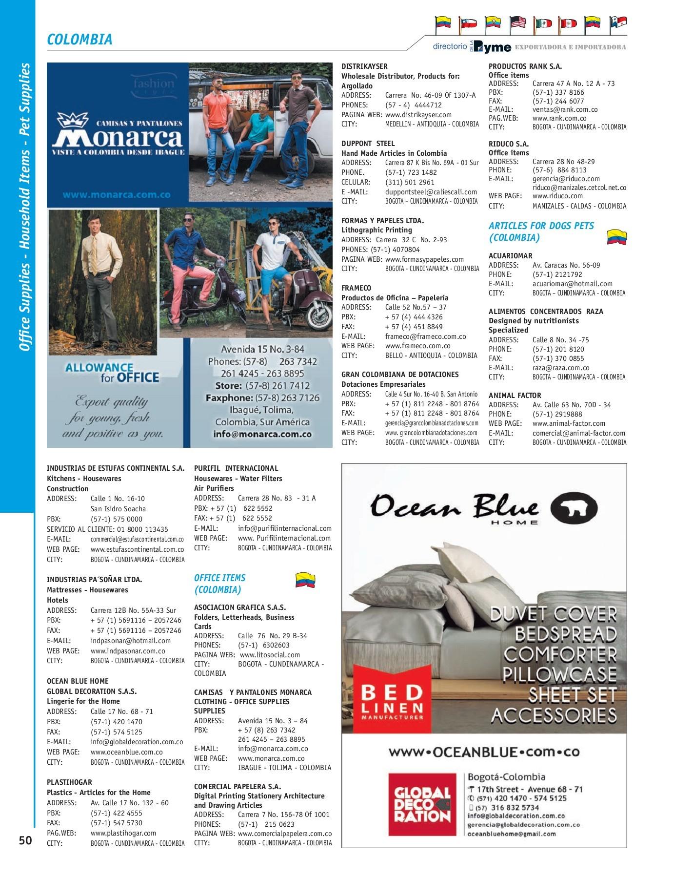Directorio De La Pyme Exportadora Versión Inglés Flip Book Pages 51 100 Pubhtml5
