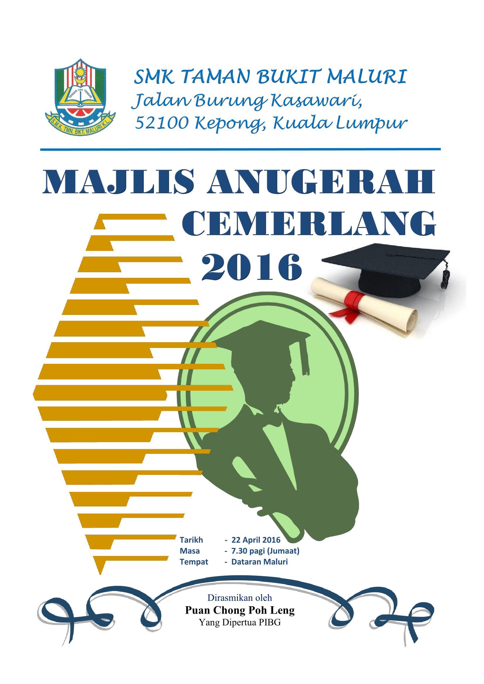 Buku Program Majlis Anugerah Cemerlang 2016 Flip Book Pages 1 26 Pubhtml5