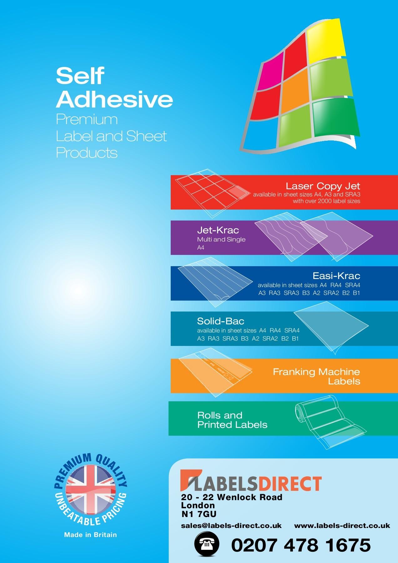 Premium White 67mm x 36mm Labels 24 Per Sheet Laser Inkjet Copier Printers