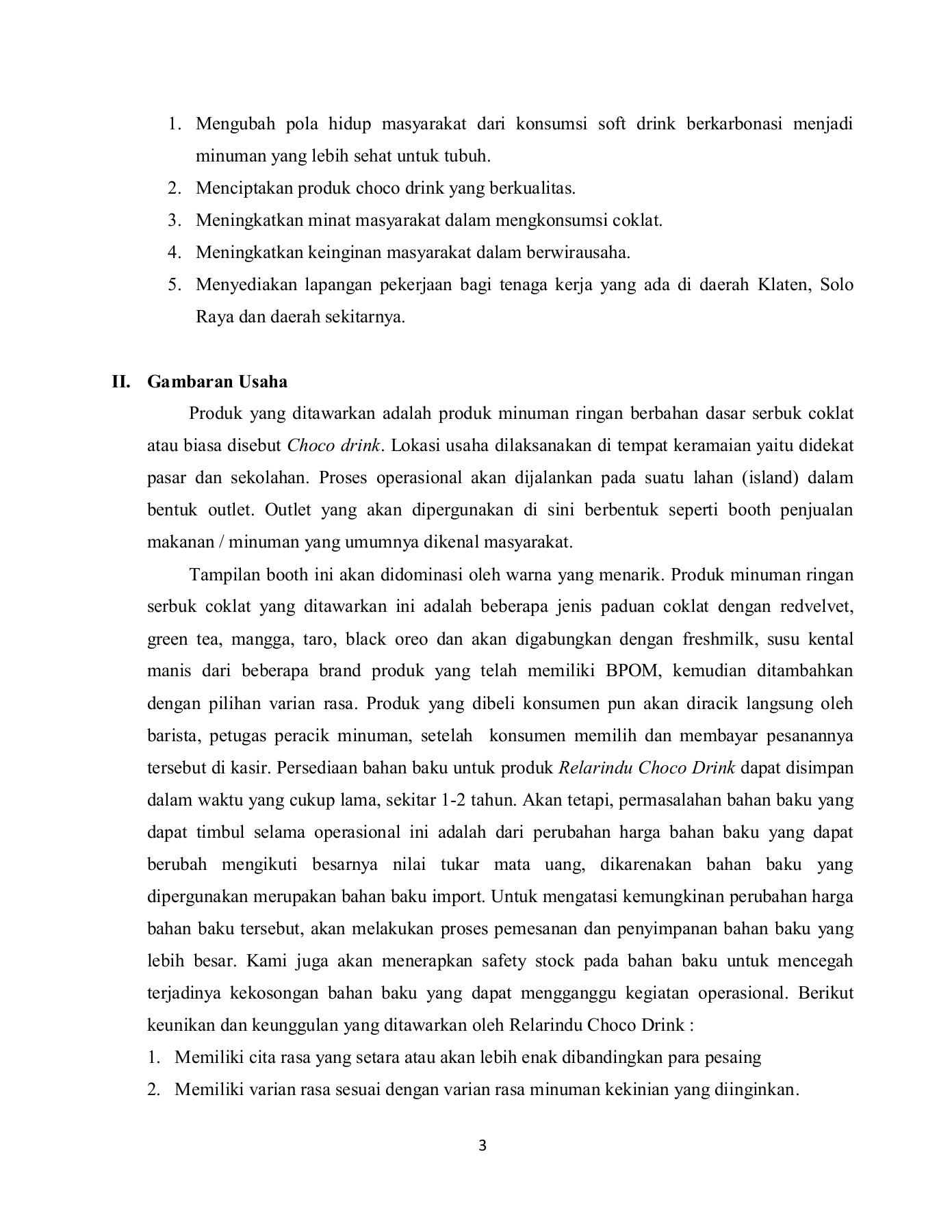 Proposal Bisnis Plan Relarindu Choco Drink By End Wahyu 007 Flip Book Pages 1 14 Pubhtml5