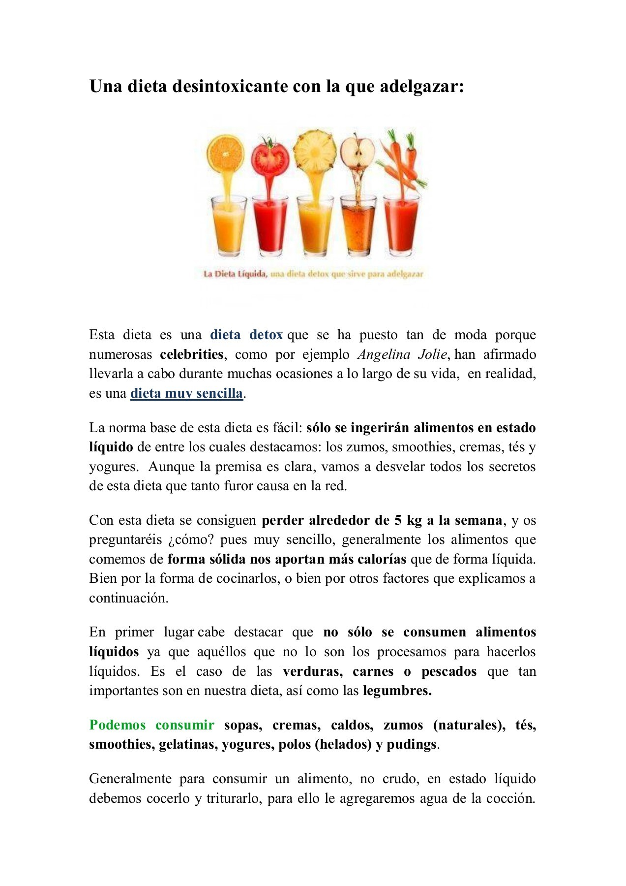 dieta gelatina adelgazar