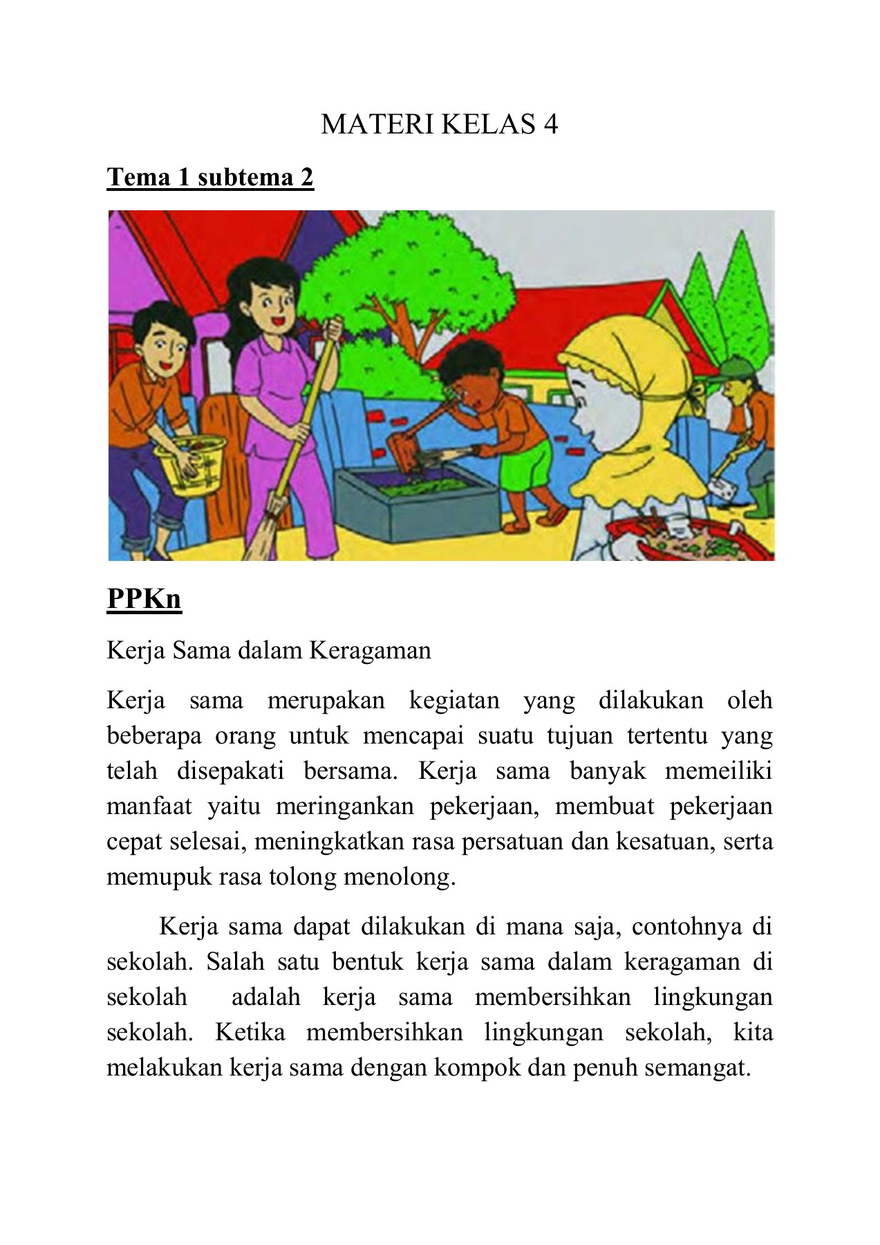 Materi Kelas 4 Sub Tema 2 Ppkn Sbdp Flip Book Pages 1 4 Pubhtml5