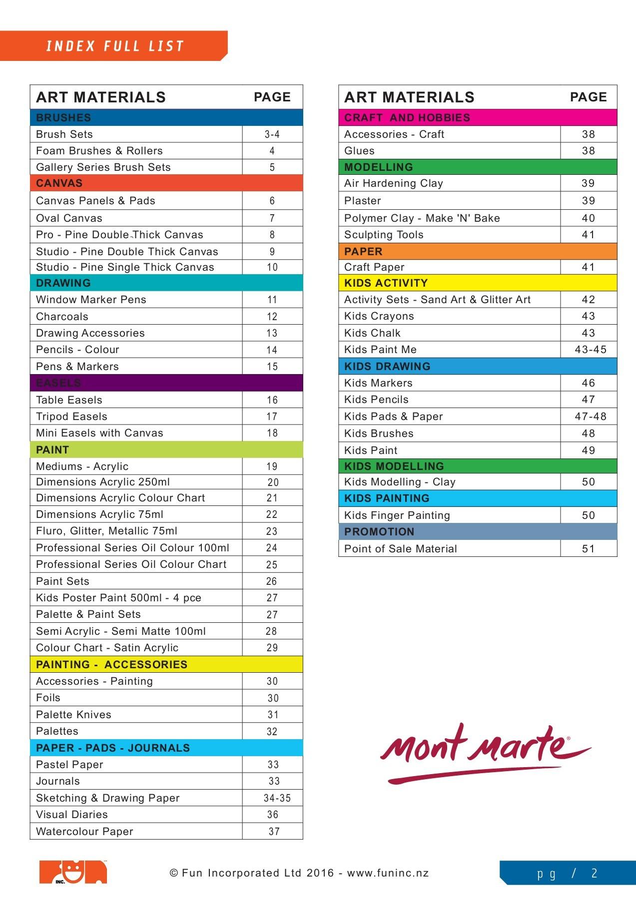 Mont Marte Artists Eraser Pack 4pce