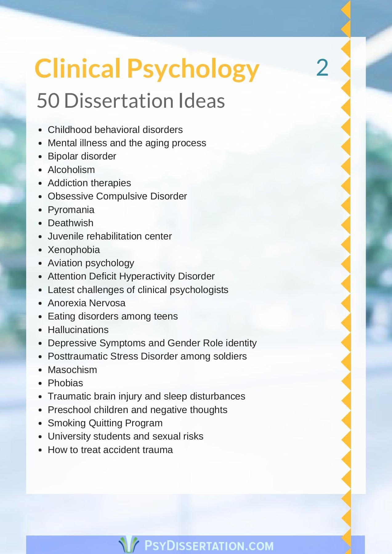 Dissertation psychology dissertation preparation