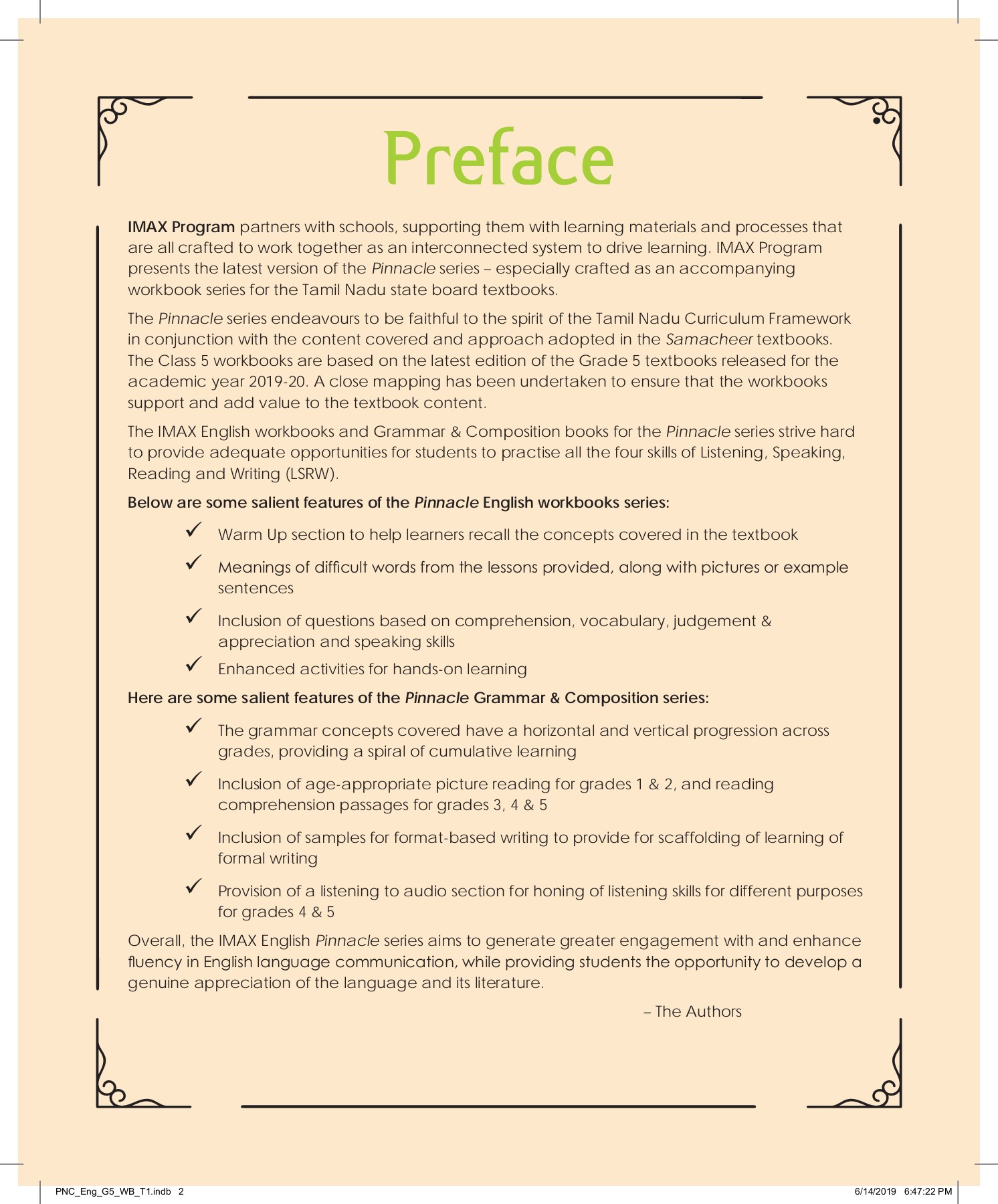 20 PINNACLE STUDENT WORKBOOK ENGLISH G20 TERM20   Meanings ...