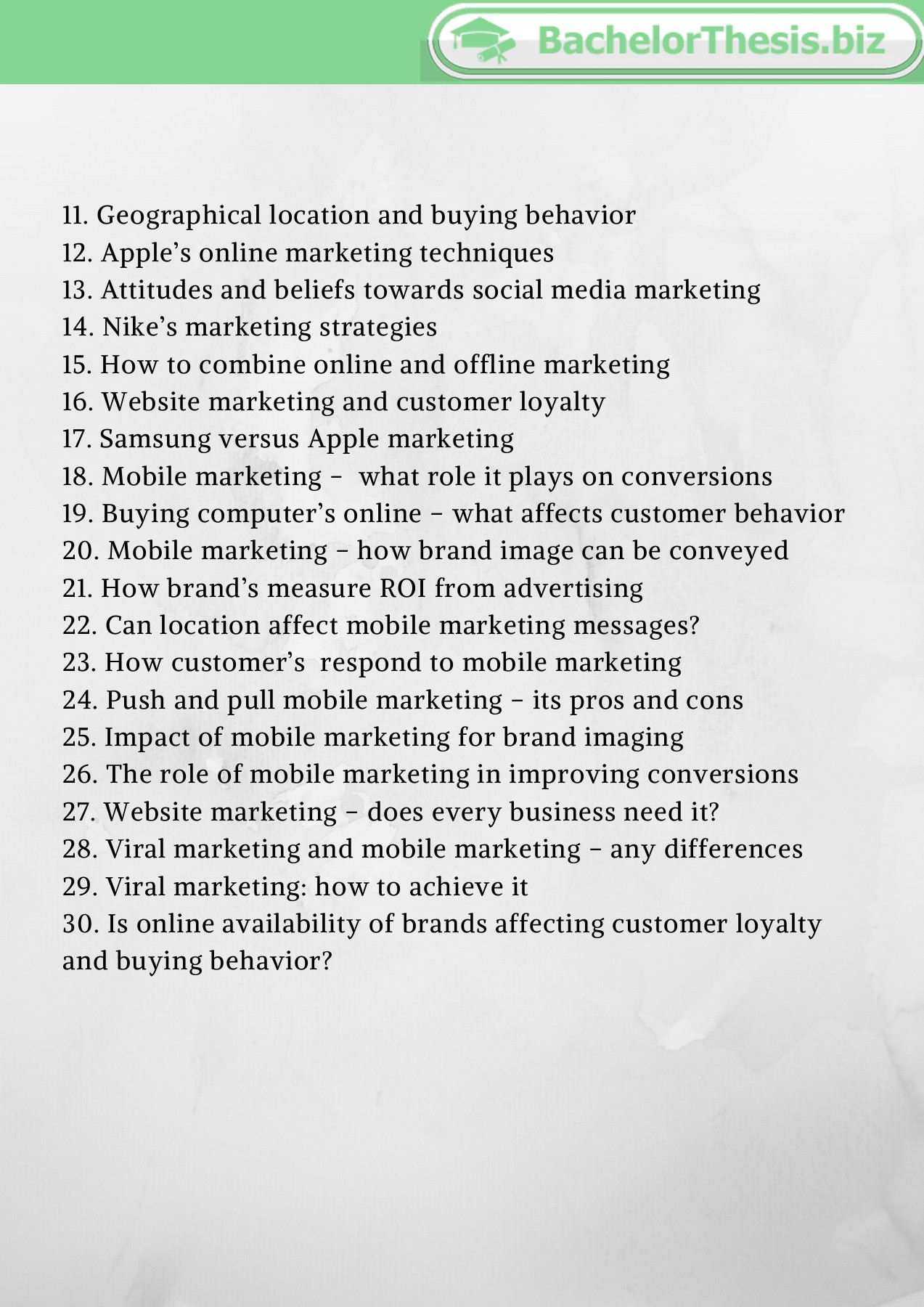 Thesis topics marketing peace corps essay help