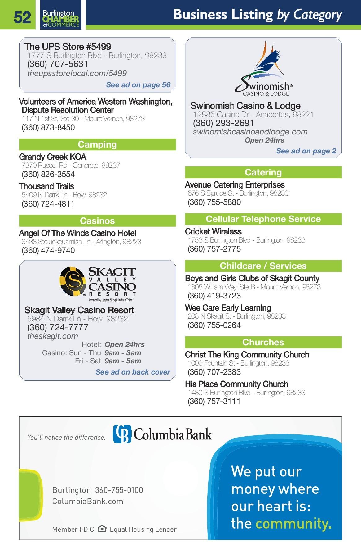 2017 Burlington Business Directory Pages 51 92 Text