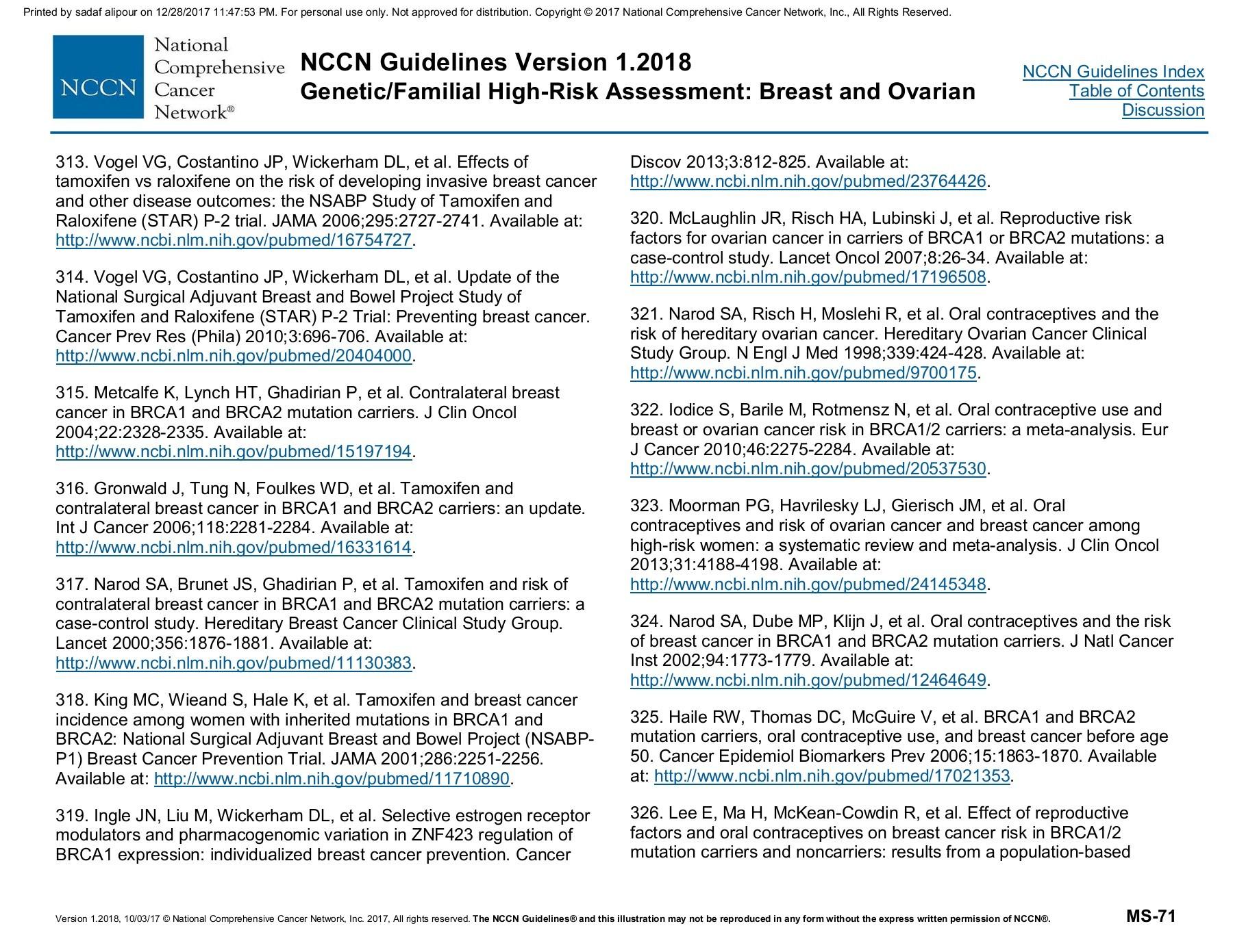 Nccn Bc Oc Risk Assessment Flip Book Pages 101 110 Pubhtml5