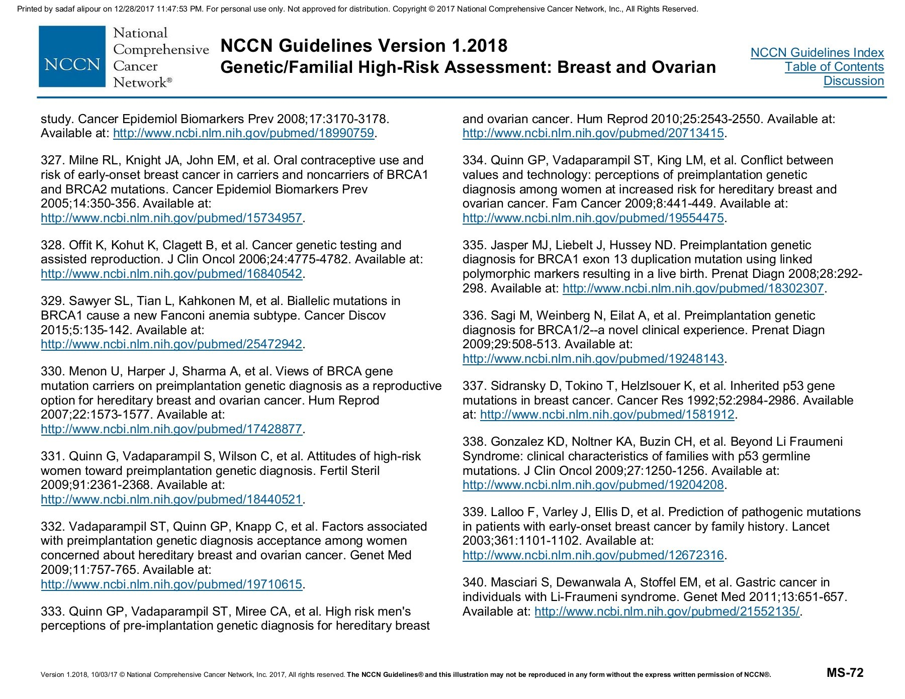 Nccn Bc Oc Risk Assessment Flip Book Pages 101 110 Pubhtml5