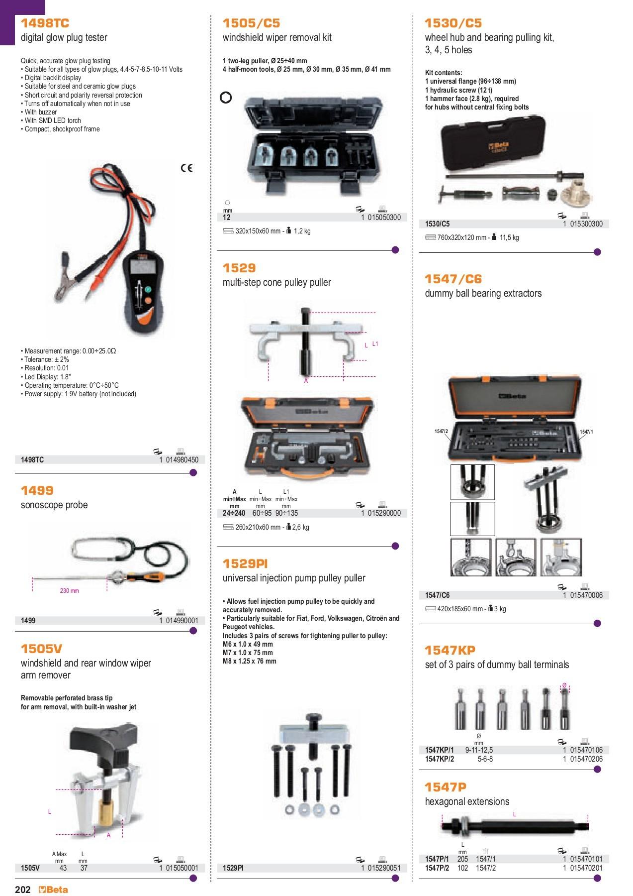 Beta Tools 1757-Battery Fillers 1000 Cc 90 D mm