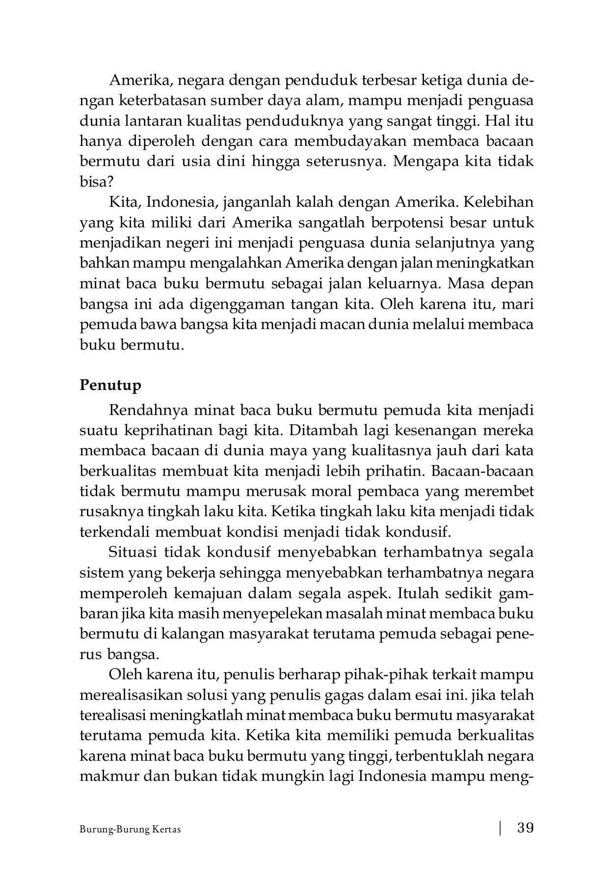BURUNG BURUNG KERTAS Antologi Cerpen 201 Flip Book Pages 51