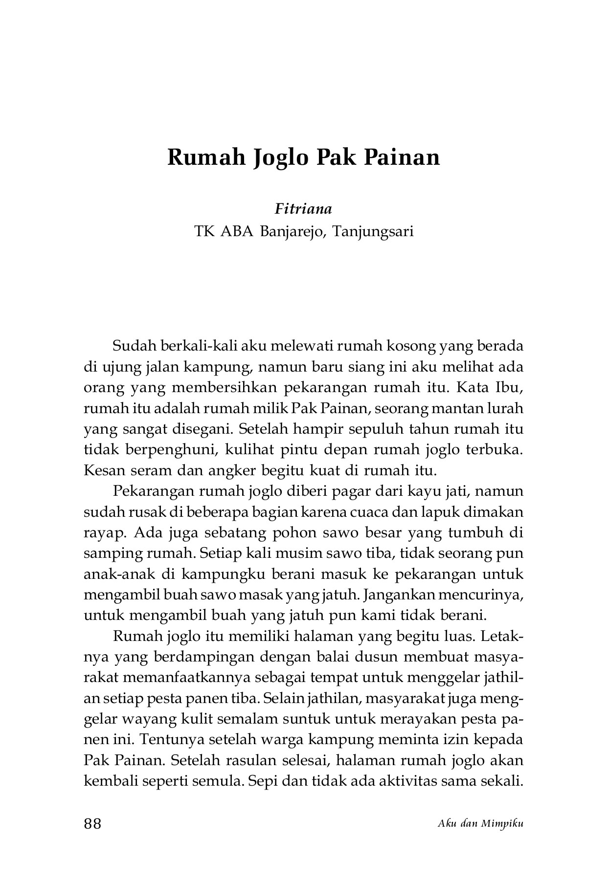 AKU DAN MIMPIKU Antologi Cerita Anak 201 Flip Book Pages 101