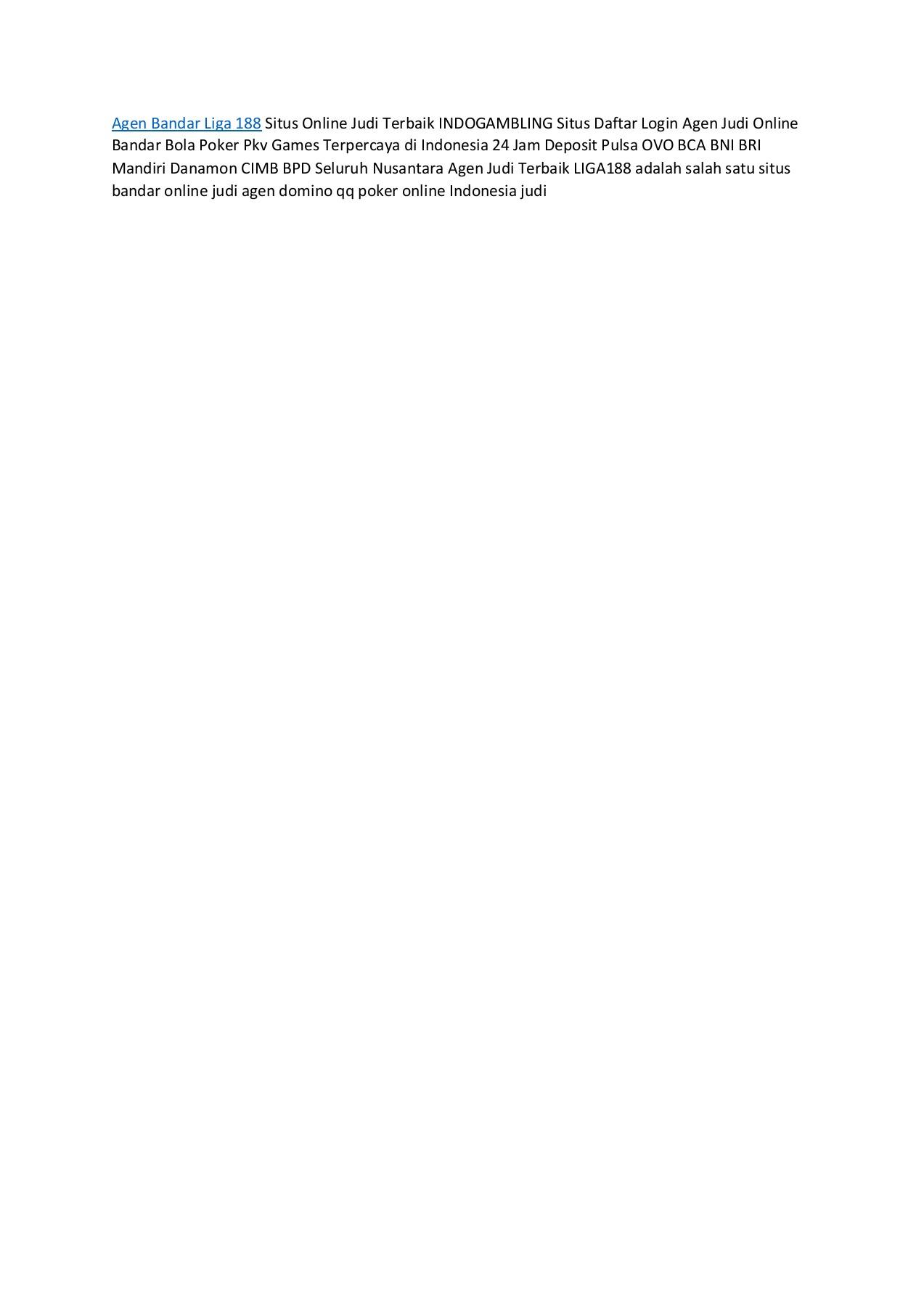 Agen Bandar Liga 188 Majudori77 Flip Pdf Online Pubhtml5