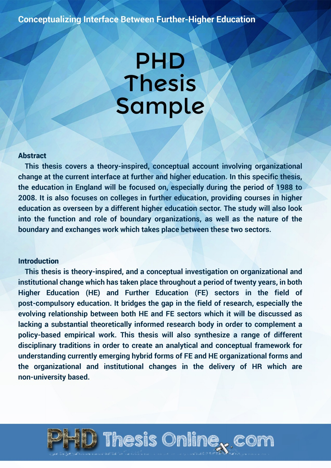 Phd Thesis Online