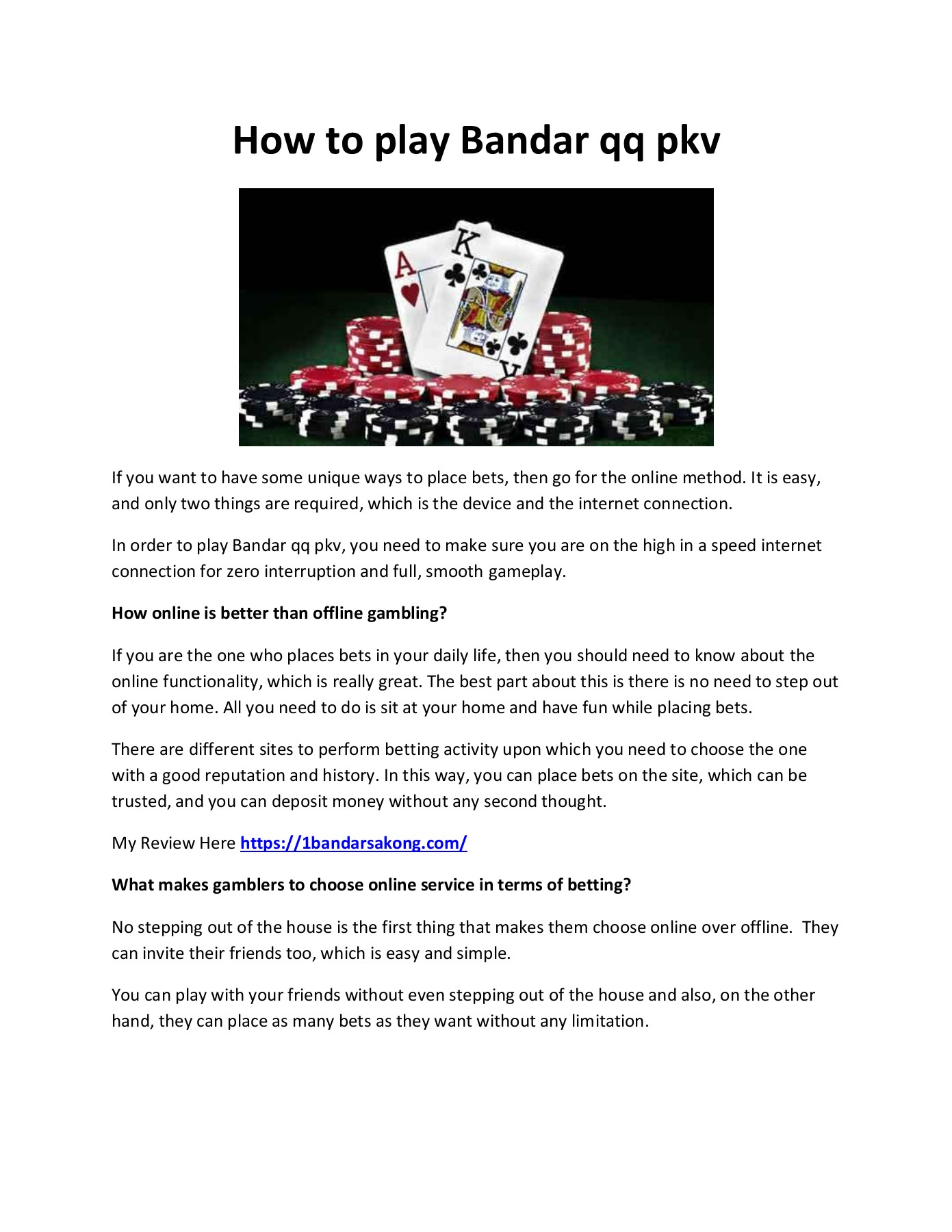 How To Play Bandar Qq Pkv Flip Book Pages 1 2 Pubhtml5