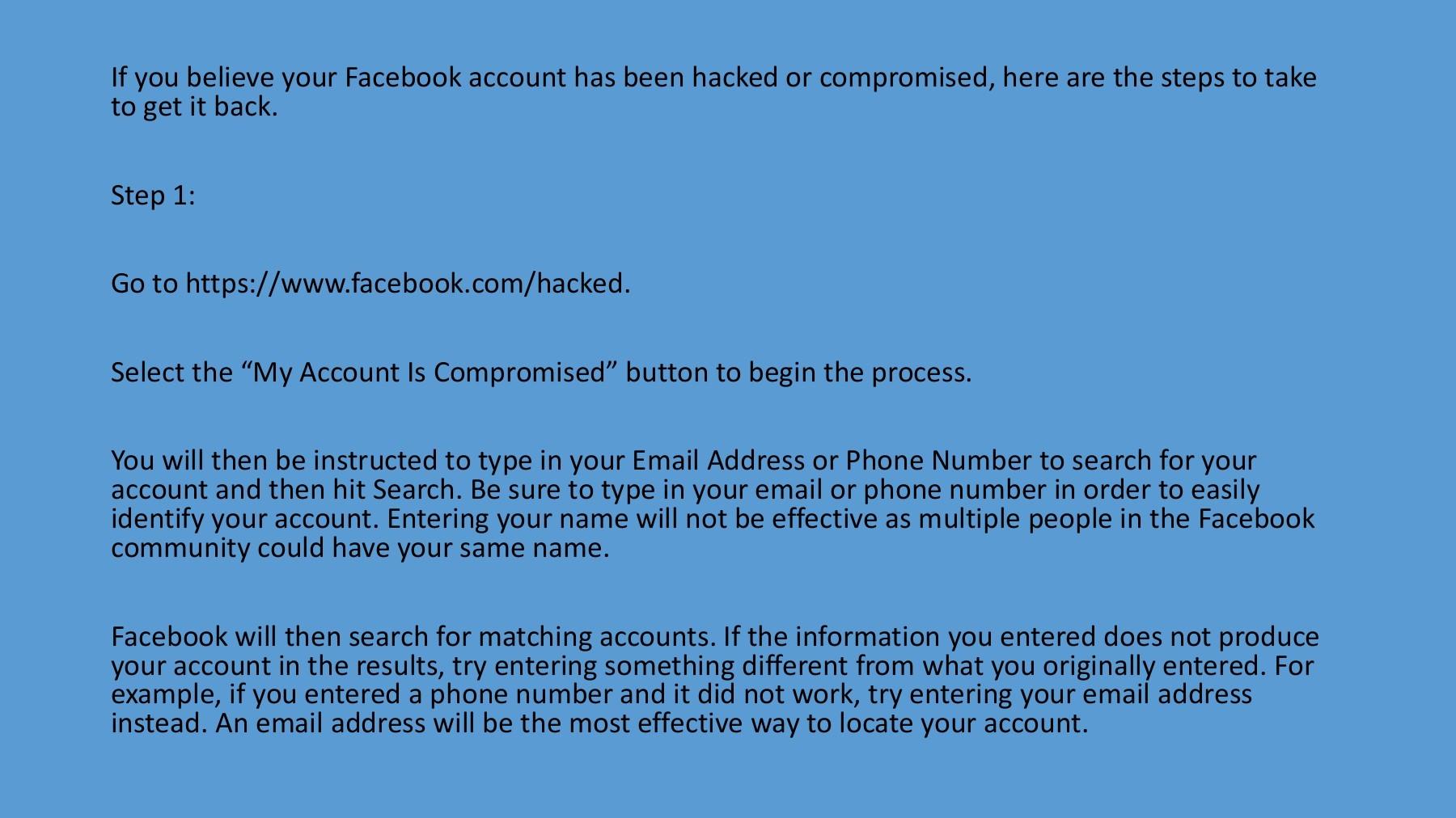Will password my not facebook accept Facebook security
