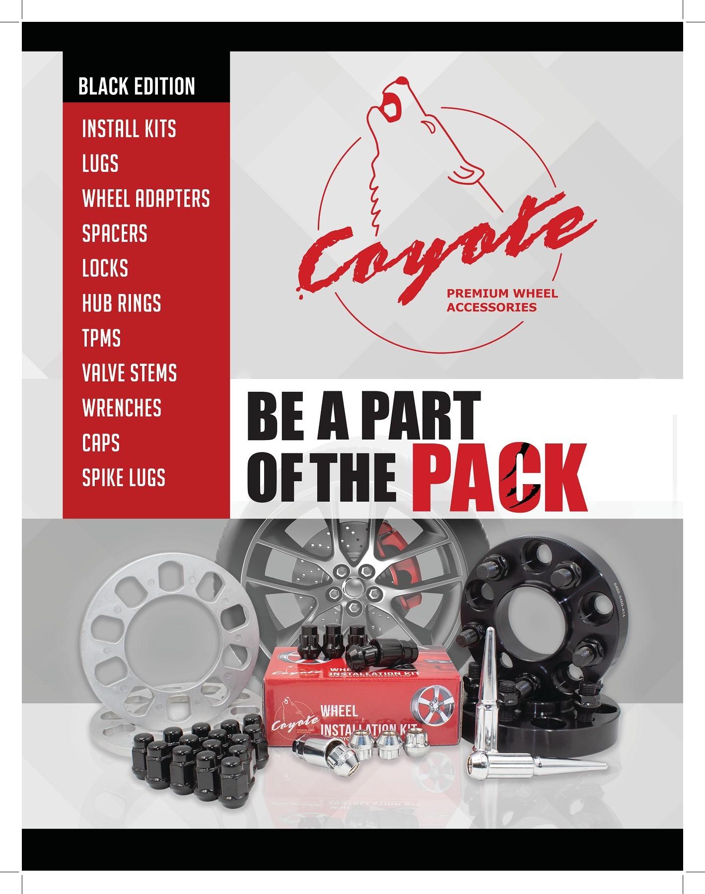 Wheel Accessories Parts Set of 24 Bulge Acorn M14x2.0 Thread 2.00 Long for Trucks 7//8 Hex Black