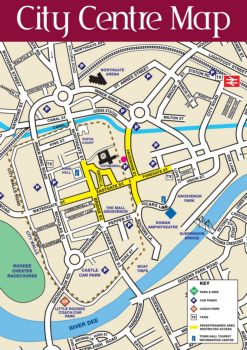 Map Of Chester City Centre Chester City Centre Map