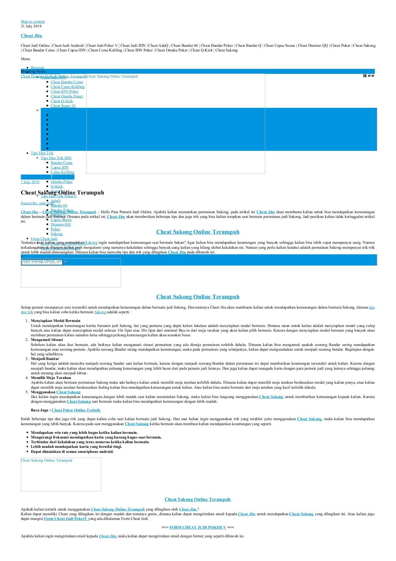 Cheat Sakong Online Terampuh Flip Book Pages 1 3 Pubhtml5