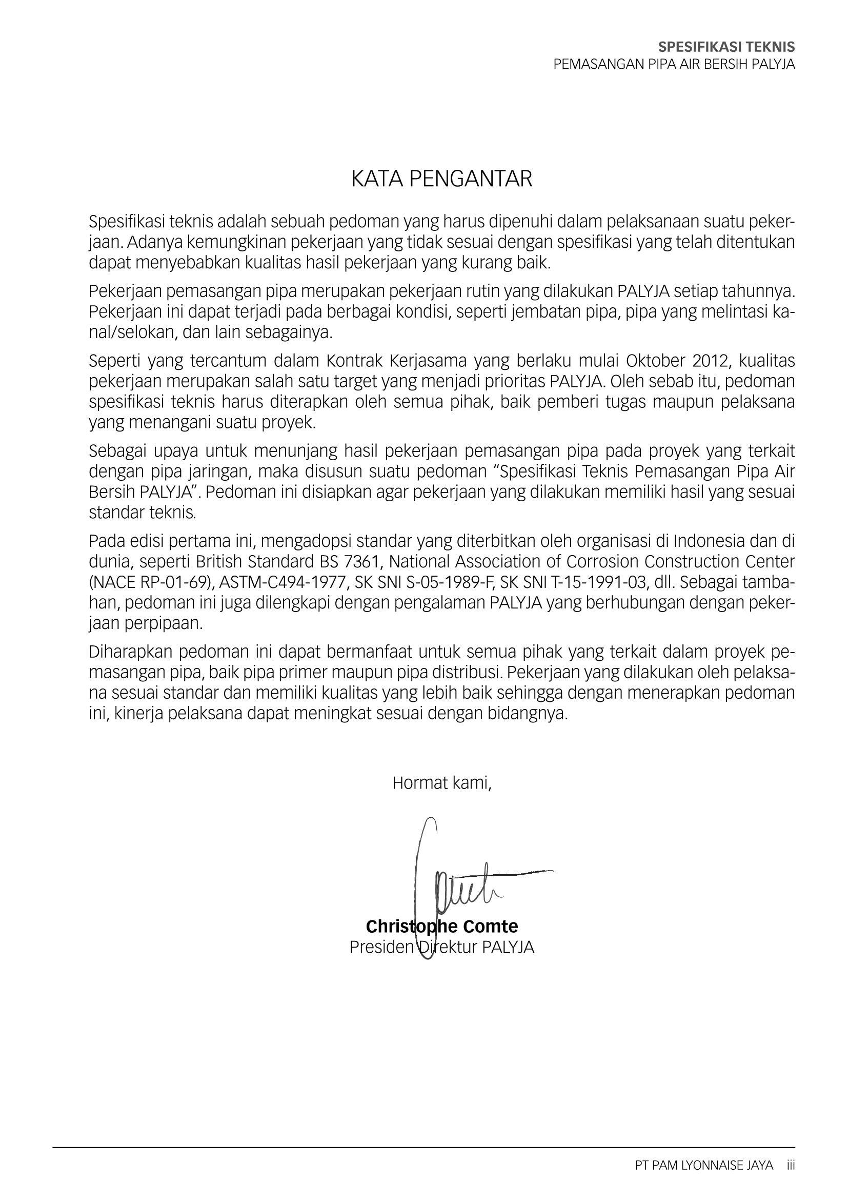 Spesifikasi Teknispemasangan Pipa Air Bersih Palyja Flip Book Pages 1 50 Pubhtml5