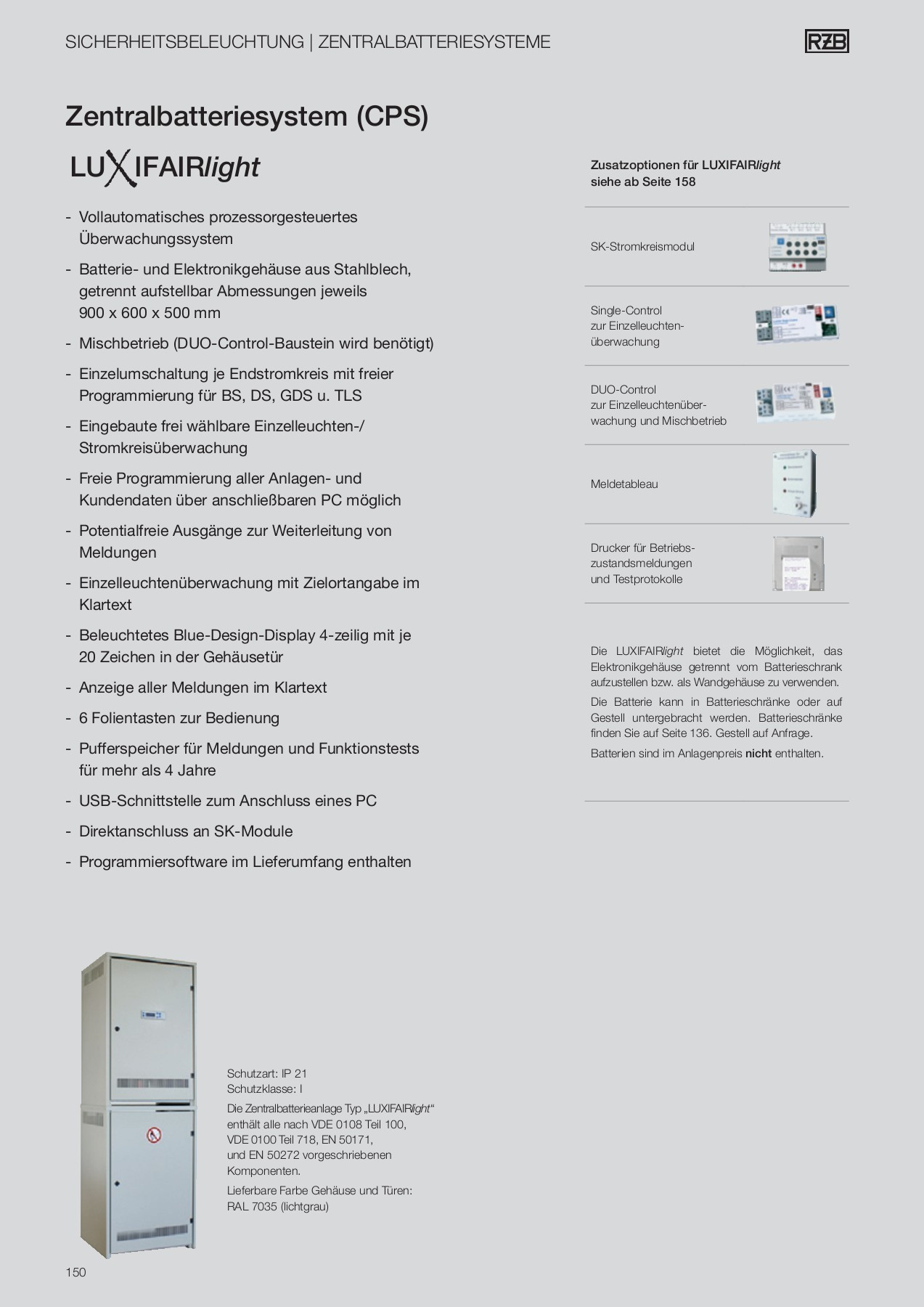IP 54 RZB Hinweisleuchte Multivariabel Multivariabel Schutzart