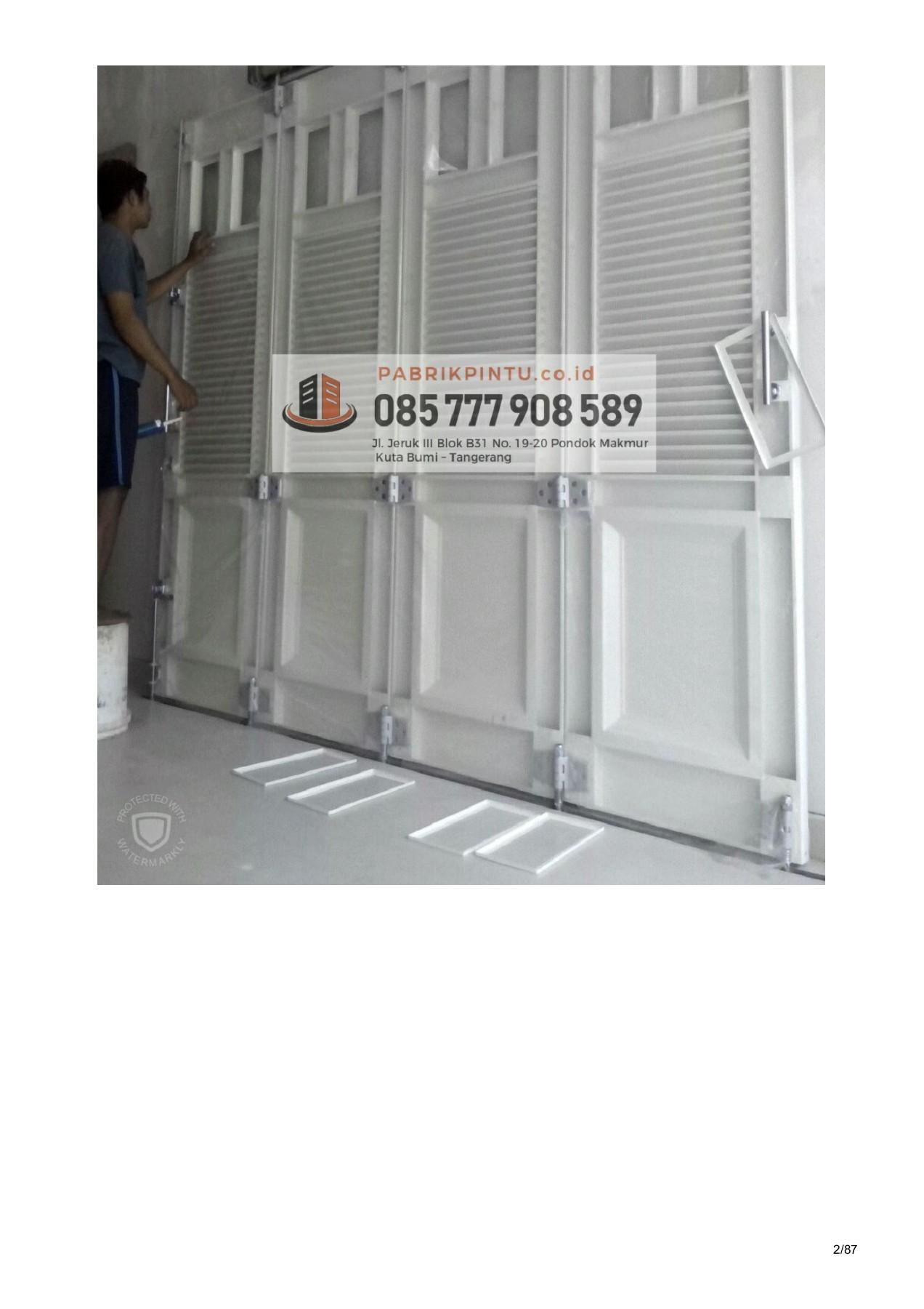 jasa pembuatan pintu lipat besi