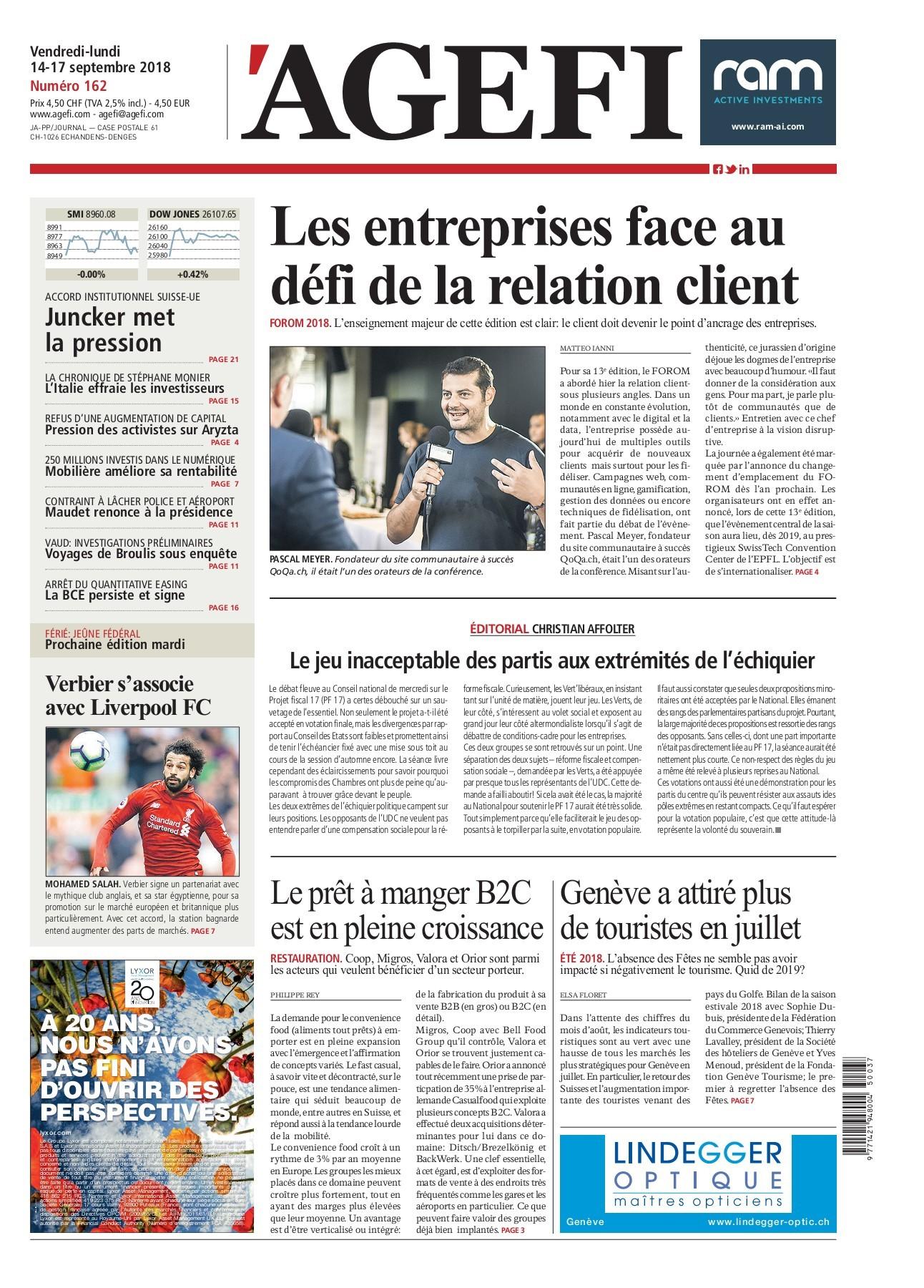 Agefi Quotidien 14 09 2018 Flip Book Pages 1 22 Pubhtml5