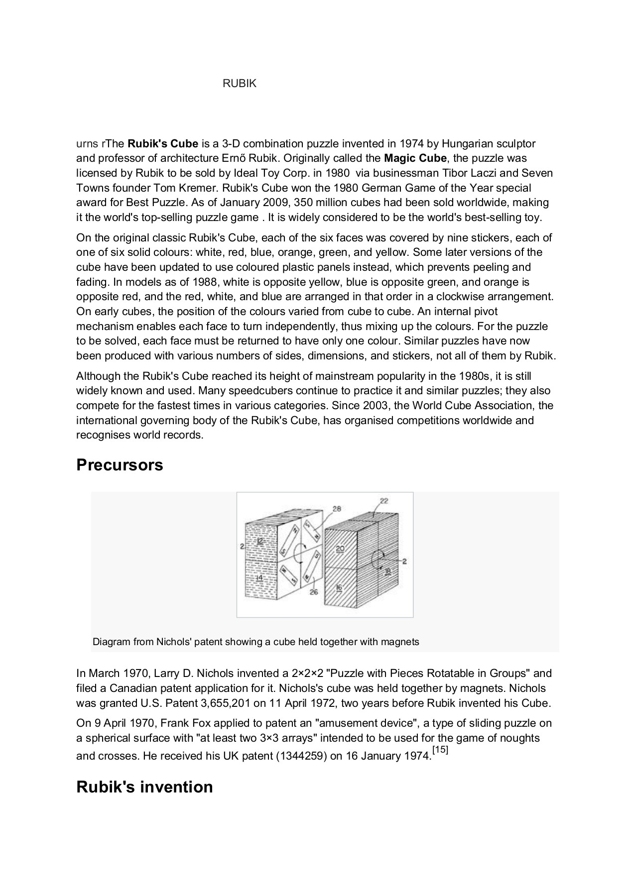 RUBIK CUBE   Rubik cube solve Solved rubik cube Rubik cube world ...