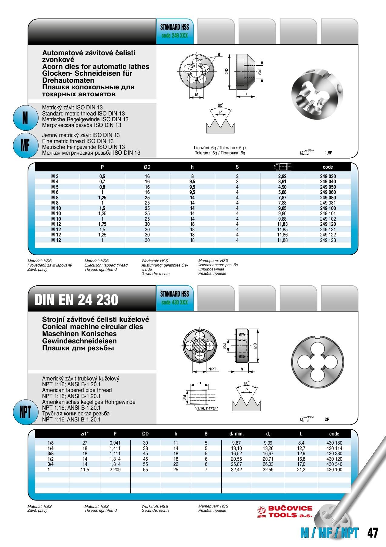 Gewindebohrer Handgewindebohrer Set M12 x 1,5 HSS Schneideisen