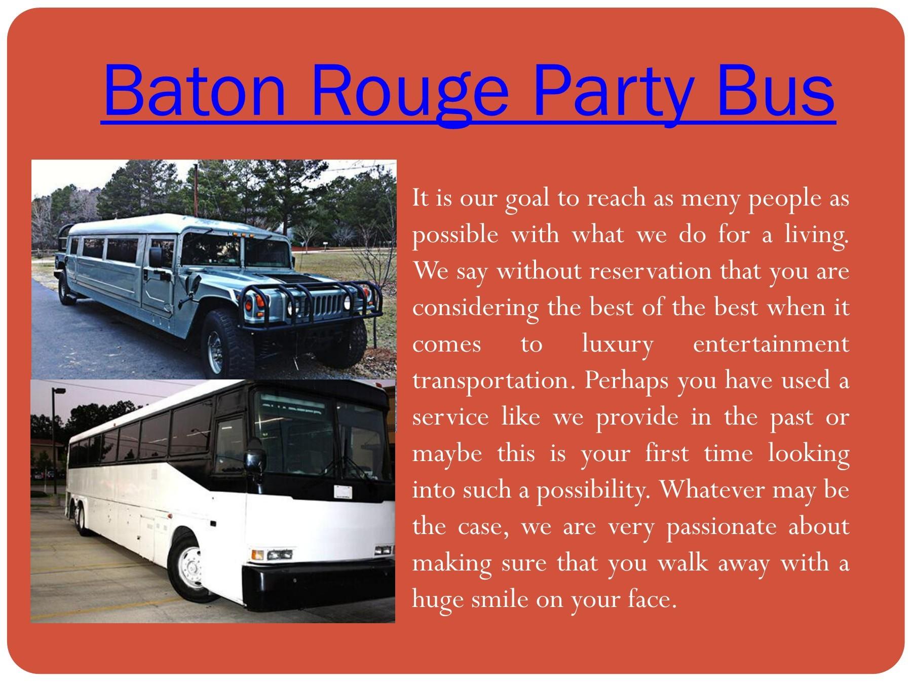 Baton Rouge Party Bus