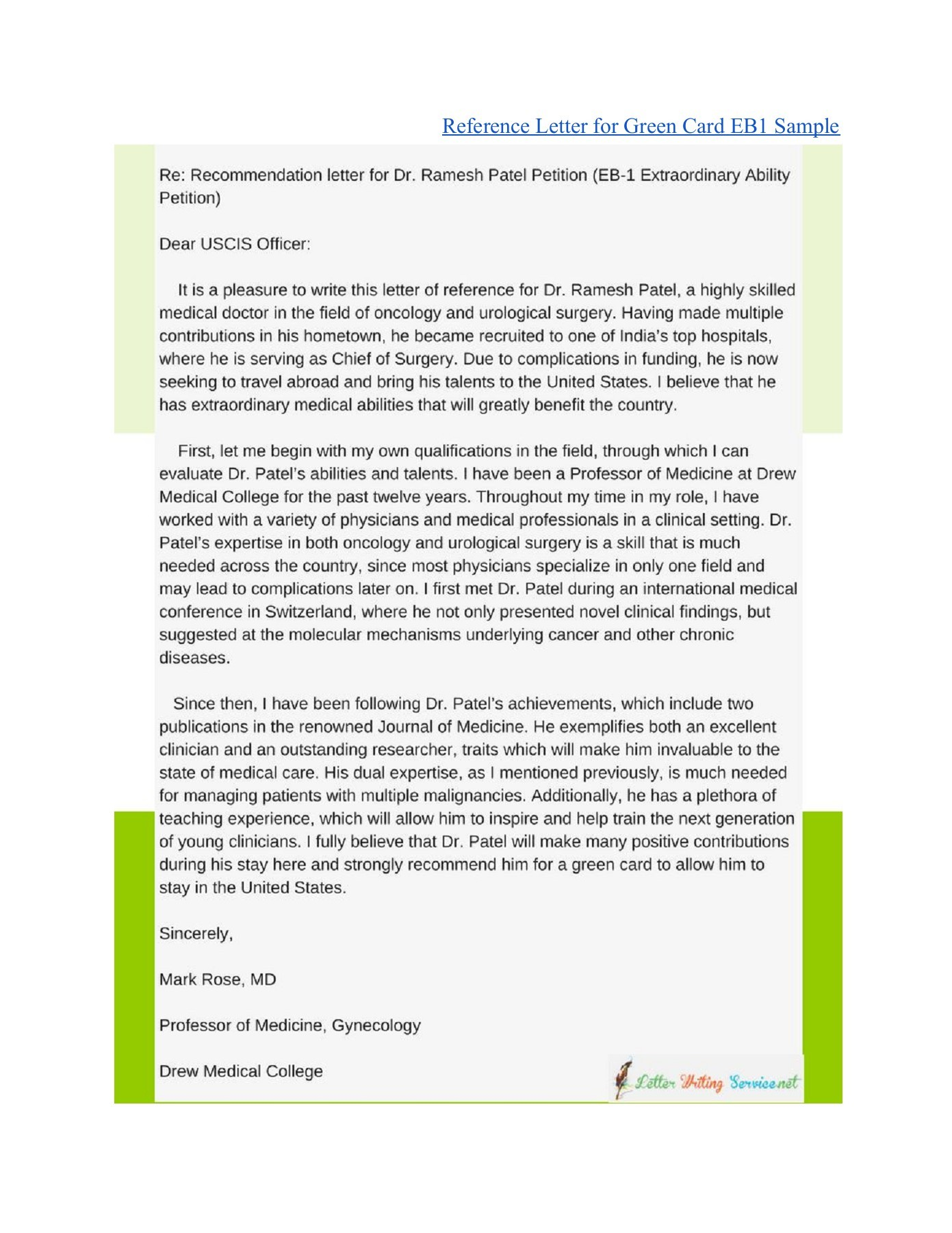 O1 Recommendation Letter Template from online.pubhtml5.com