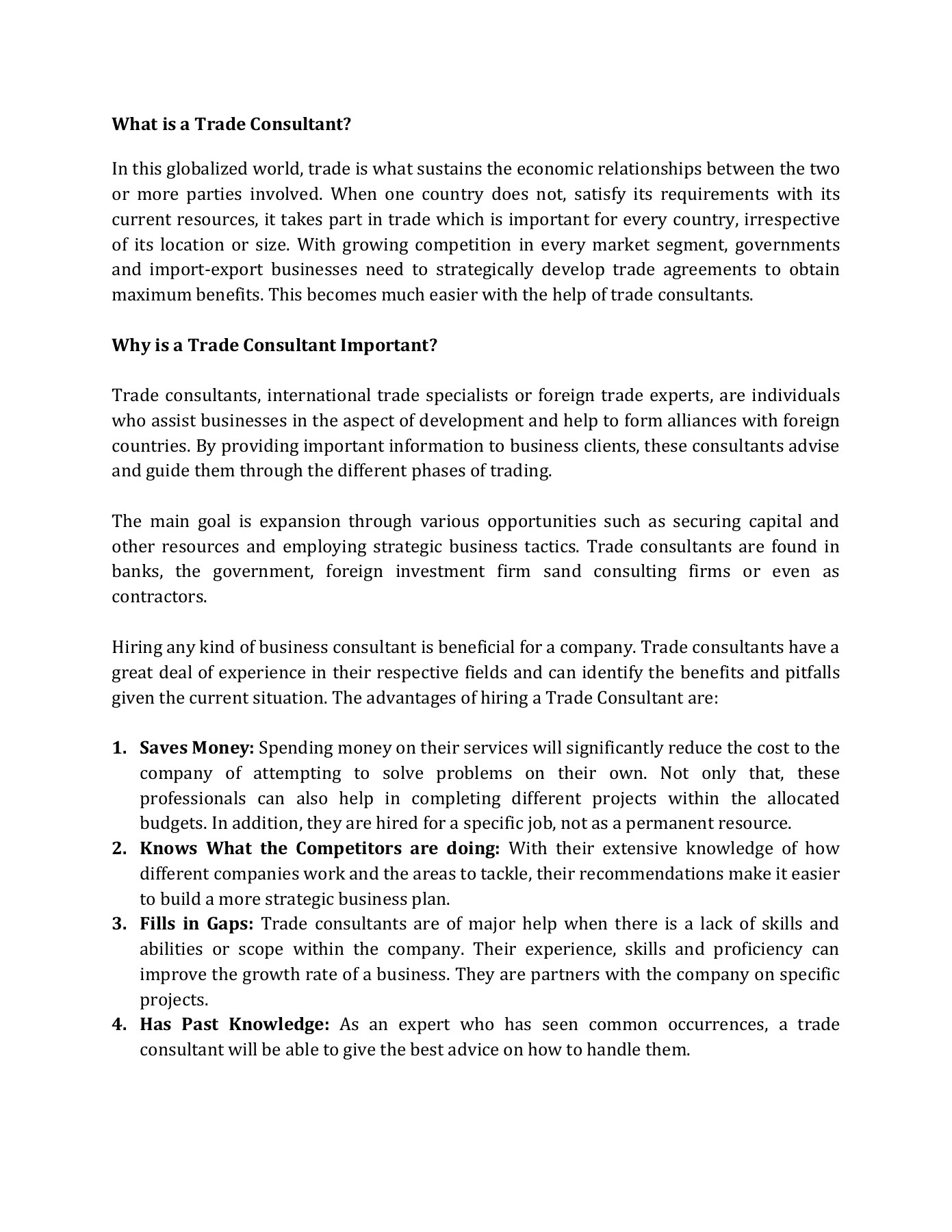 What Is A Trade Consultant Flip Book Pages 1 2 Pubhtml5