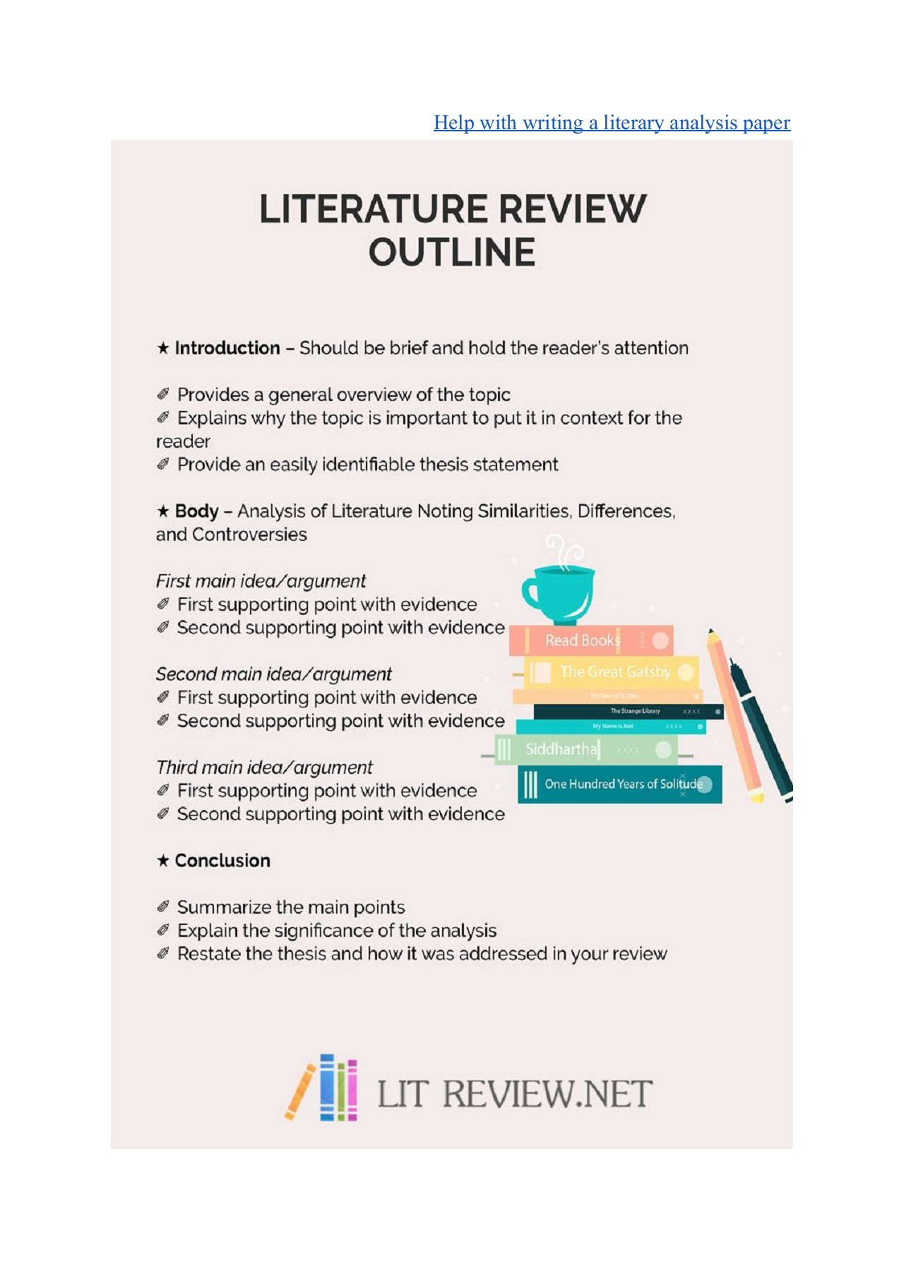 Professional literature review sample how to write a counter argument paragraph example
