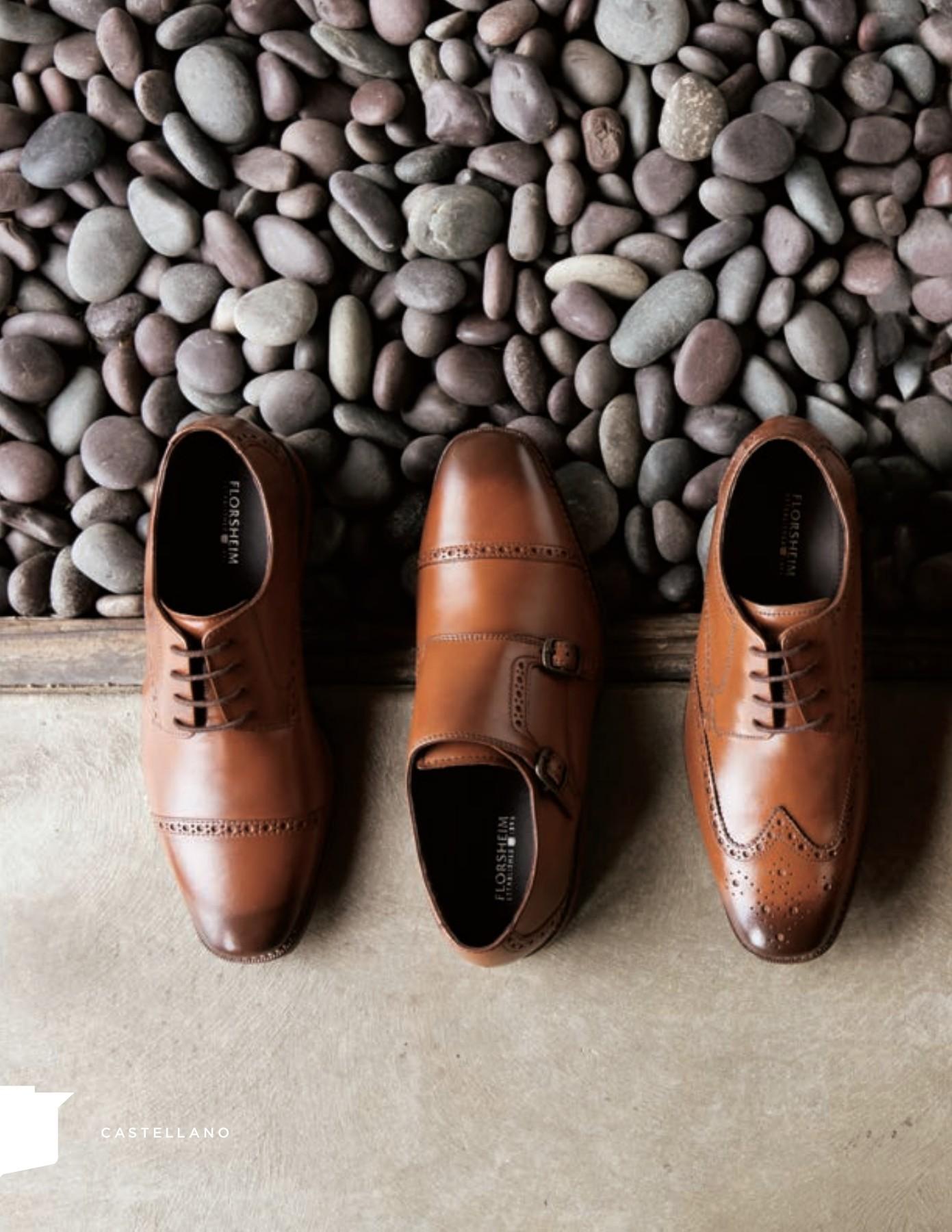 Florsheim DUKE BOOT 17087-03 Cognac Leather Bike Toe Side Zip Dress Boot Shoes