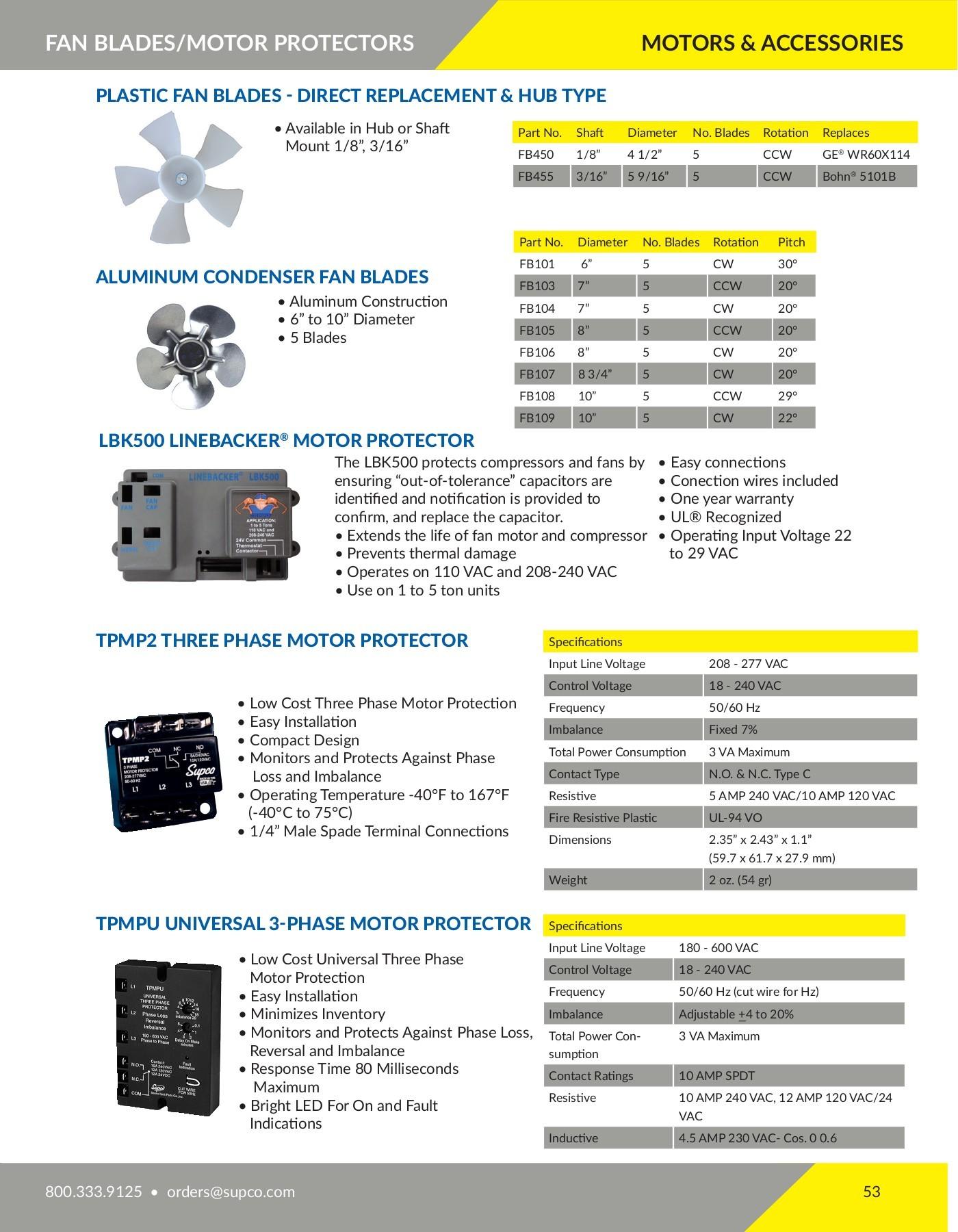 Supco AX78 Orginal Replacement Parts