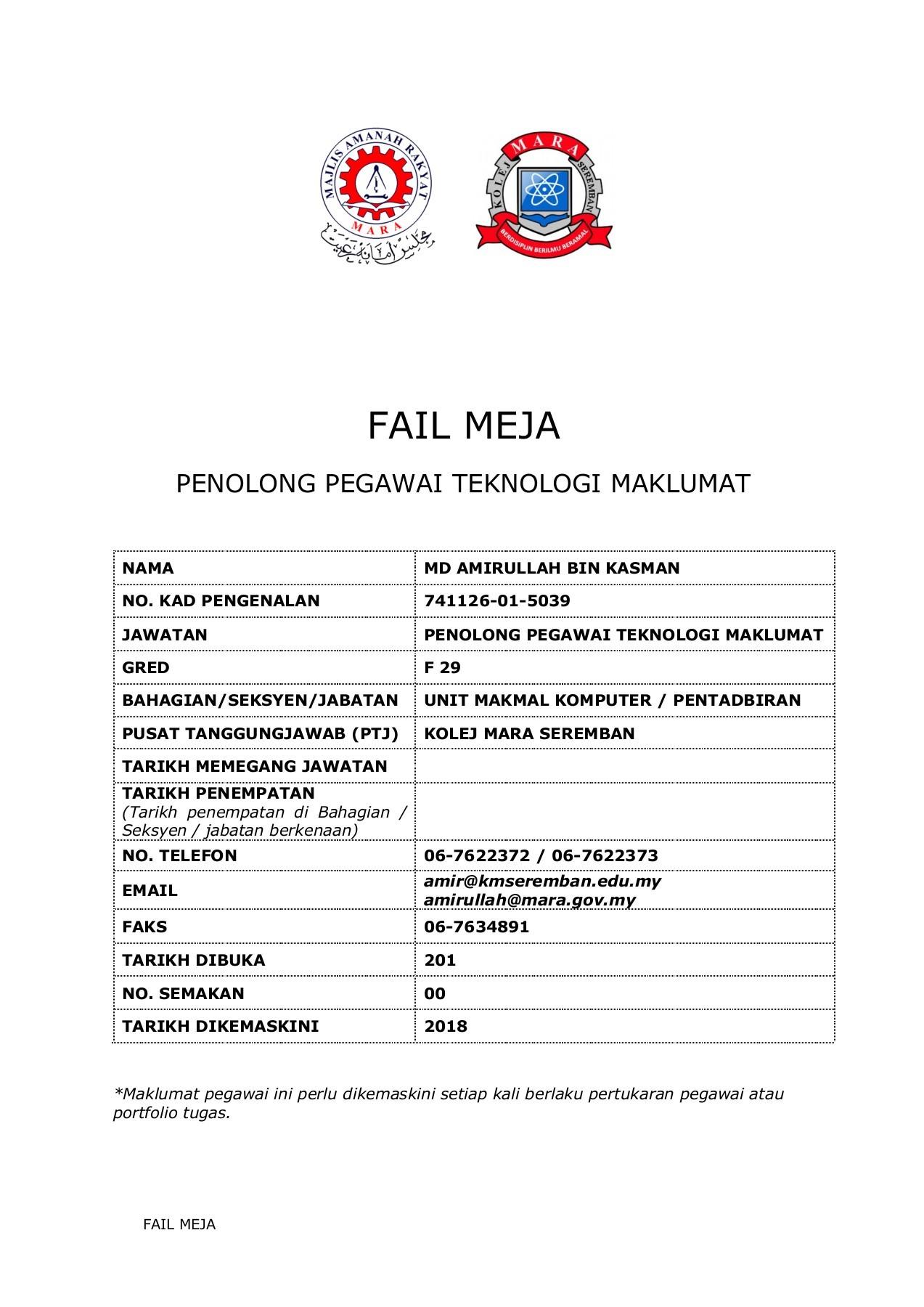Fm Fa29 Md Amirullah B Kasman Flip Book Pages 1 50 Pubhtml5