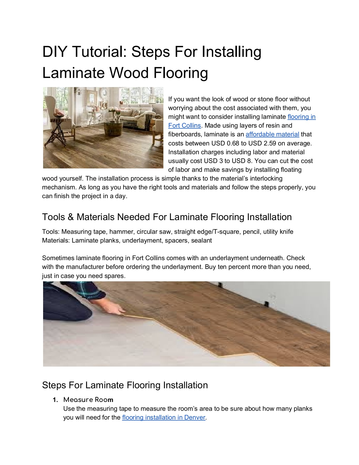 Installing Laminate Wood Flooring Flip