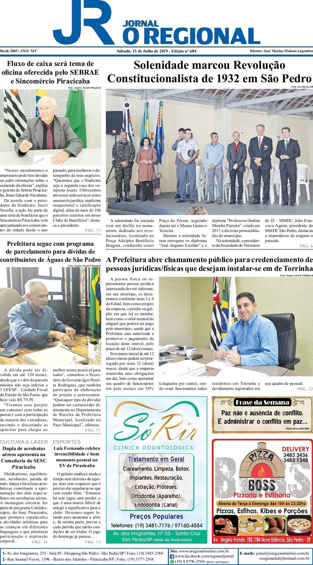Agrada O Papai Que Tu Monta jornal o regional edição 684 13/07/2019-flip book pages 1-30