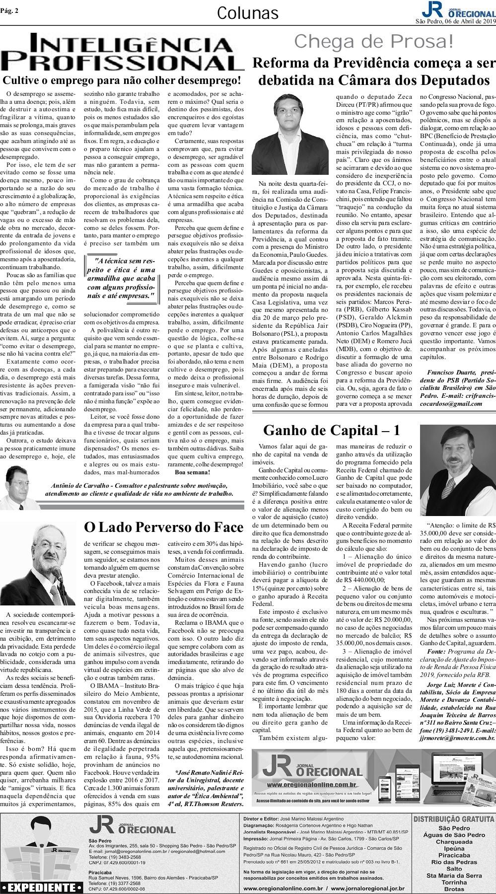 Agrada O Papai Que Tu Monta jornal o regional edição 670 06/04/2019-flip book pages 1-38