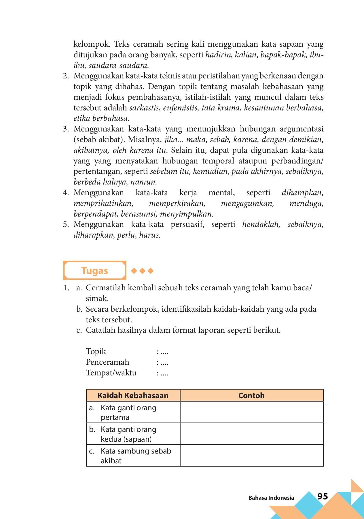 Bahasa Indonesia Kelas 11 By Sartono Flip Book Pages 101 150 Pubhtml5
