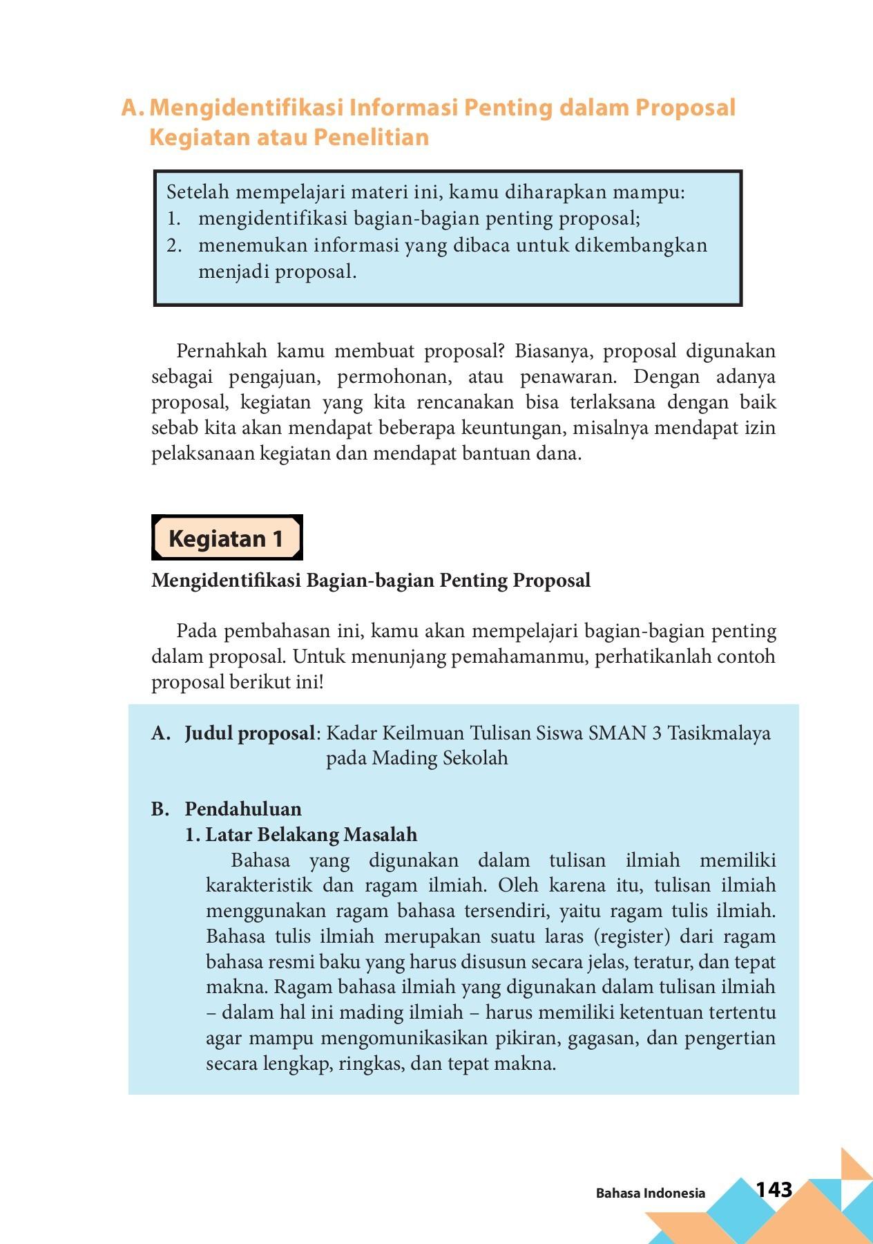 Ringkasan Proposal Penelitian Tentang Kadar Keilmuan Tulisan Siswa