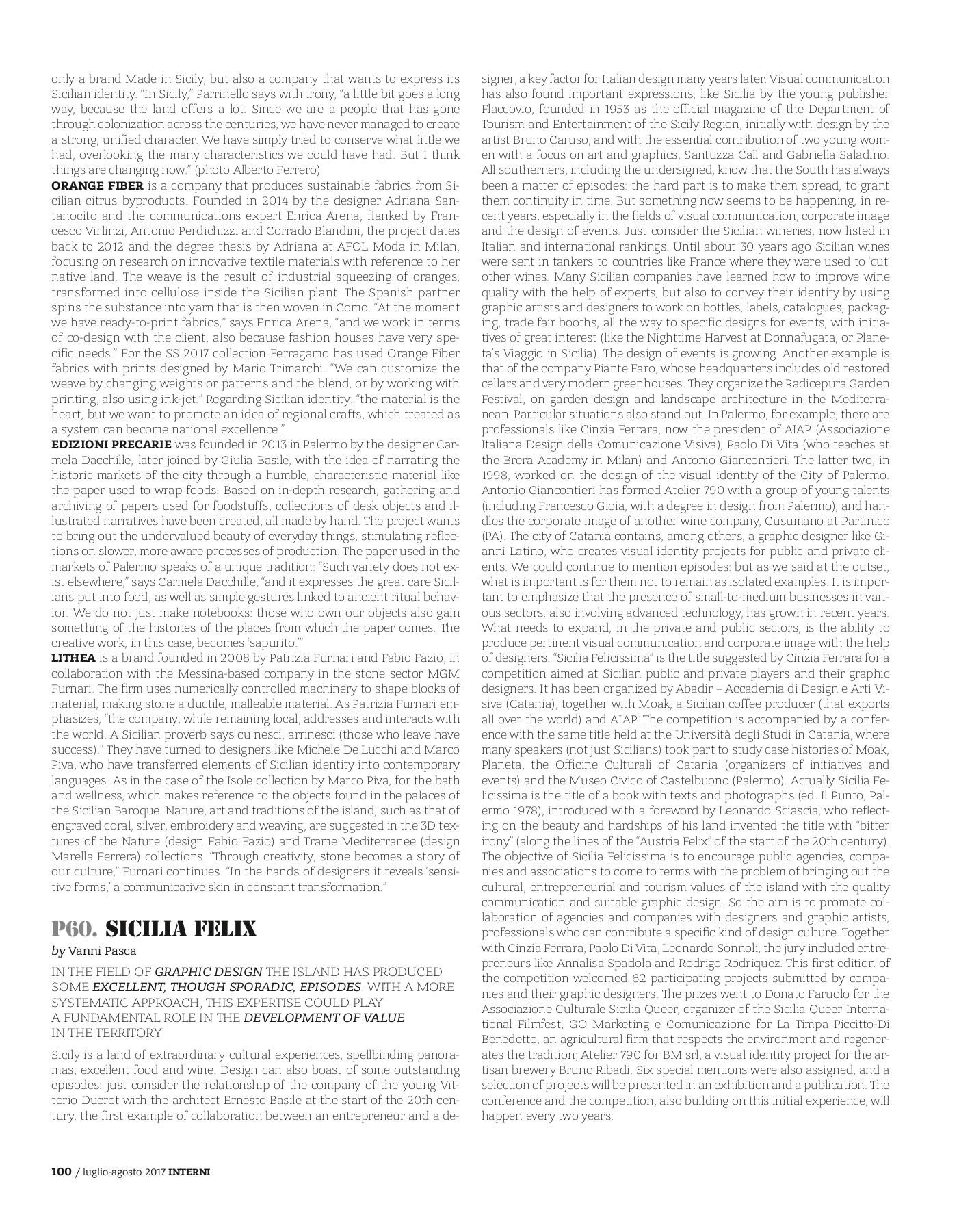 Lavoro Assistente Fotografo Catania interni italia_julaug 2017-flip book pages 201-208 | pubhtml5